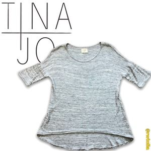 Anthropologie Tina + Jo Waffle Knit T Shirt Small
